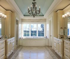 I love the ceiling and layout of this masterbath