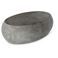 One Kings Lane Pebble Coffee Table   Dark Gray