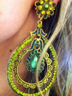 Green#luxe#earring#elrincondmama