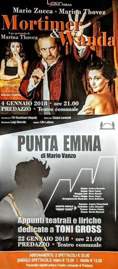 «Mortimer e Wanda» e «Punta Emma» in scena al Teatro Comunale