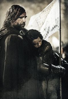 Sandor Clegane & Arya Stark - game-of-thrones Fan Art