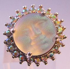 KIRKS FOLLY Moon Face Ring Size 5 Vintage by BrightEyesTreasures, $32.00