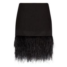 Polo Ralph Lauren Ostrich Feather Trimmed Skirt