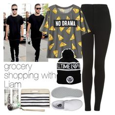 """grocery shopping with Liam"" by b-campos ❤ liked on Polyvore featuring Topshop, Vans and Rip Curl"