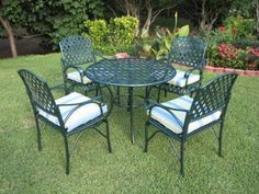 This Outdoor Patio Furniture Bistro Chairs Set Is A Beautiful Addition To  Your Patio, Yard And/or Garden. This Patio Set Is Made Of Cast Aluminum Au2026