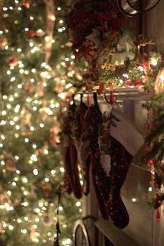 the stockings were hung by the mantle with care...