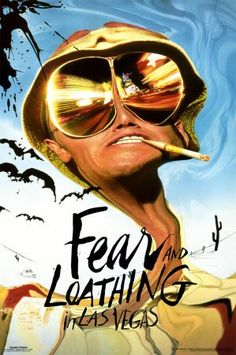 Fear and Loathing in Las Vegas Novel, Hunter S. Famous Movie Posters, Famous Movies, Fear And Loathing, Hunter S Thompson, Terry Gilliam, Las Vegas Photos, The Lone Ranger, Streaming Movies, Great Movies