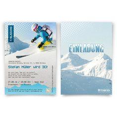 Einladungskarten als Skipass