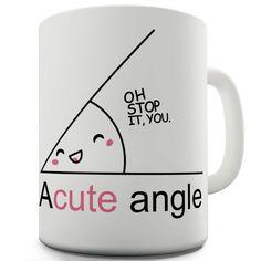 A Cute Angle Ceramic Tea Mug by TEapparel on Etsy