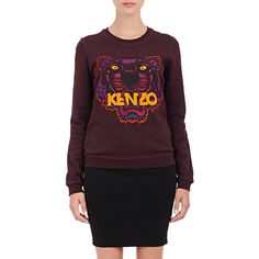 Kenzo Tiger Sweatshirt (365,670 KRW) ❤ liked on Polyvore featuring tops, hoodies, sweatshirts, purple, crewneck sweatshirt, colorful tops, tiger top, graphic crew neck sweatshirts et tiger print sweatshirt
