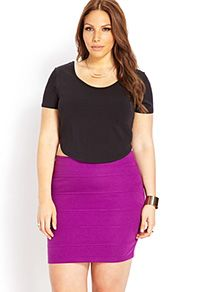 Shop chic plus size bodycon skirts, peplum skirts, and more | Forever 21