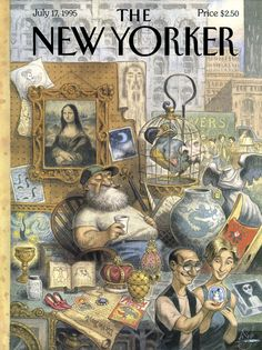 "The New Yorker - Monday, July 17, 1995 - Issue # 3666 - Vol. 71 - N° 20 - Cover ""The Treasure"" by Peter de Sève"
