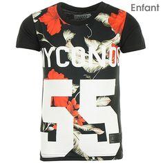 Tee Shirt Enfant Celebry Tees Myconos Noir Rouge - LaBoutiqueOfficielle.com