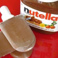 Ingredients:    1 cup full cream milk  1/3 cup Nutella    Method:    Step 1: Gather all ingredients and popsicle moulds.    Step 2: Place the milk and Nutella in a blender and blend until thoroughly combined.    Step 3: Pour into a popsicle moulds.    Step 4: Freeze and serve