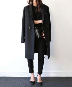 Le parfait total look noir Classe !