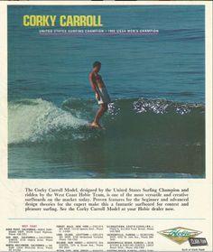 Corky Carrol for Hobie Surfboards