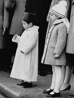 A very young Crown Prince Mohammed and one of his sisters