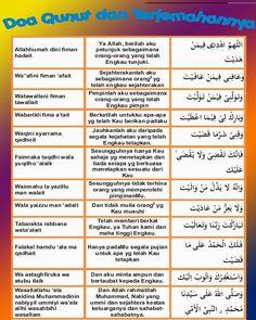 Duaa Qunut & Its Meaning Hijrah Islam, Doa Islam, Islamic Prayer, Islamic Teachings, Pray Quotes, Muslim Religion, Islamic Posters, Islam For Kids, Learn Islam