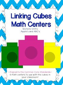 math center, link cube, cube math, appl