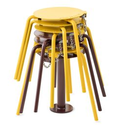 Stockholm designer Thomas Bernstrand has created an outdoor stool that locks up like a supermarket trolley to keep parks tidy. Adirondack Chair Cushions, Cheap Adirondack Chairs, Patio Chair Cushions, Patio Chairs, Street Furniture, Ikea Furniture, Furniture Design, Recycled Furniture, Furniture Ideas