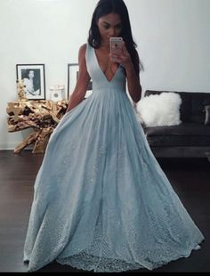 blue v neck sequin long prom dresses 2017, fashion prom dresses for teens, dress for prom