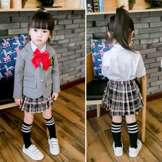 Children Girls School uniform Clothes Set 2016 New Autumn Long Sleeve Jacket White Blouse Skirt Girl Kids School Outfits ** This is an AliExpress affiliate pin. Click the image to visit the AliExpress website School Uniform Girls, School Outfits, Girls School, Girl Outfits, Uniform Clothes, Blouse And Skirt, Set 2016, Outfit Sets, Kids Girls