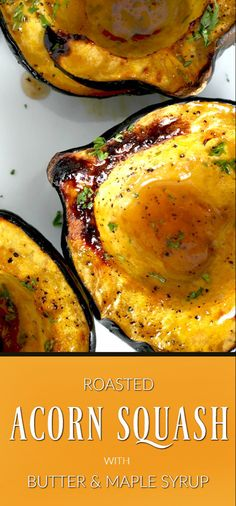 Baked acorn squash couldn't be easier. Bake the sliced and seeded squash with butter and maple syrup until fork tender. A lovely autumn side dish. Acorn Squash Recipes Healthy, Baked Squash Recipes, Acorn Squash Baked, Vegetable Recipes, Vegetarian Recipes, Cooking Recipes, Healthy Recipes, Grateful Prayer, Thankful Heart