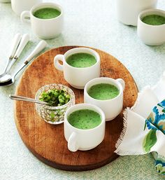 Entertaining this summer? Whip up a refreshing batch of Cucumber, Pea & Mint Soup from Seriously Simple Parties!