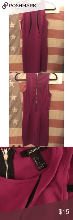 Forever 21 Dress Magenta colored club dress from Forever21 in size small. Very form fitting and super cute, just not my style anymore. Worn once or twice and in great condition! Forever 21 Dresses Mini