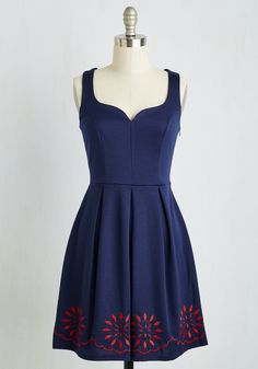 Bright This Way Dress in Navy