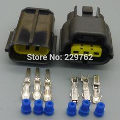 3 pin 1.8MM car waterproof Engine water temperature sensor plug auto automotive Electrical Wire female male Connector Plug  #Affiliate
