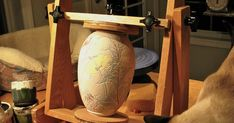 Have you ever seen a pottery easel before?  I found a photo of one on the internet years ago and found a woodworker to build one for me. At...