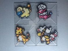 #179-#181 Mareep Family Perlers by TehMorrison