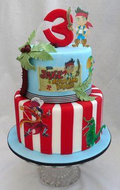 Jake and Pirates Cake Birthdays Cakes Pinterest Cake and