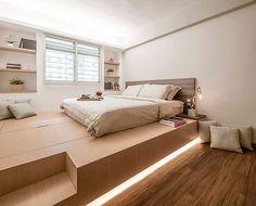 Ideas for minimalist bedroom storage house Platform Bedroom, Bed Platform, Platform Bed Storage, Home Bedroom, Diy Bedroom Decor, Home Decor, Bedroom Kids, Design Bedroom, Bedrooms