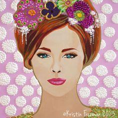 Original Painting by Kristin Freeman – Flowers www.kristinfreemanillustration.com