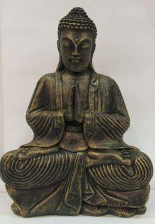 Ateliê Le Mimo: ORIENTAIS  Buda tibetano grande - peça em gesso