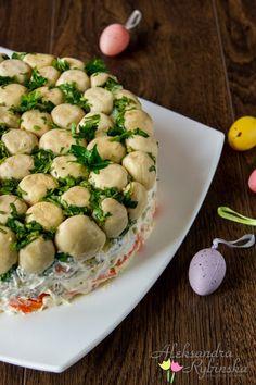 "Przepisy Aleksandry: SAŁATKA ""GRZYBOWA POLANA"" Sauerkraut, Mushroom Salad, Appetizer Salads, Appetizers, Polish Recipes, Polish Food, Vegetable Salad, International Recipes, Soup And Salad"