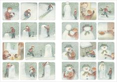 building the snowman storyboard