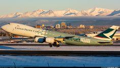Cathay Pacific Cargo 747-8 @ Anchorage.