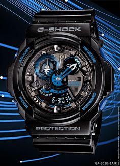 initial blue g-shock watch, GA-303B-1AJR – 20,000 yen 2013 30th anniversary limited special edition, eric haze, new watch casio