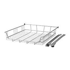 """RATIONELL wire basket, silver color Width: 12 3/8 """" Depth: 21 3/4 """" Height: 4 3/8 """" Width: 31.4 cm Depth: 55.3 cm Height: 11 cm"""