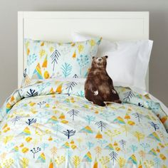 love this for bash's room ( now that he is all alone)Greater Outdoors Bedding  | Crate and Barrel
