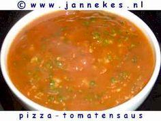 recepten voor pizza-tomatensaus