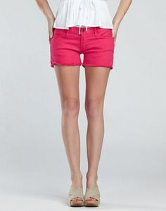 HAVE to have these! New Lucky Brand spring collection, which hits stores this week! I got an exclusive peek. LOVE the passion pink cutoffs!