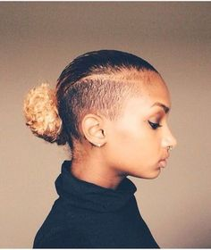 Top Trendy Shaved Hairstyles for the Ladies . Shaved sides hair styles are well known among the Afri Undercut Natural Hair, Tapered Natural Hair, Long Natural Hair, Long Hair, Undercut Hairstyles, Shaved Hairstyles, Girl Hairstyles, Undercut Styles, Mohawk Styles