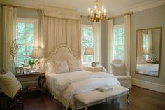 Love!!  We can recreate this look with the Madison headboard from Bernhardt!