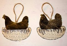 Chicken ornaments