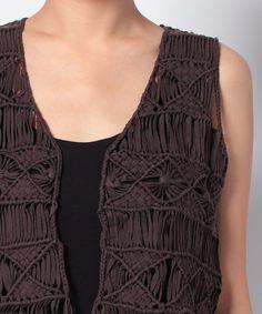 ribbon macrame vest