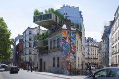 3BOX, 3BOX by Stéphane Malka Architecture, Stéphane Malka Architecture, prefab architecture, prefab housing, La Seine, affordable housing, parasitic architecture, modular housing, modular architecture, Les Toits du Monde, 3BOX Les Toits du Monde,